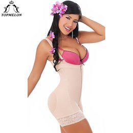 035623c5db9 TOPMELON Underwear Women Waist Trainer Bodysuit Modeling Strap Corset For  Slimming Body Shaper Sexy Plunge U Lace Butt Lifter