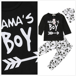 Stock Clothes Winter Australia - Stock Infant Baby Boys Long Sleeve T Shirt Tops Leggings Panda Pants Hat Outfit Set Spring Autumn Clothes