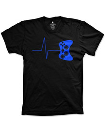 Gamers T Shirts Canada - Printed T Shirts Online Men'S Short Sleeve Heartbeat Of A Gamer O-Neck Tall T Shirt