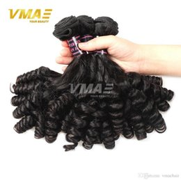 Hair Waves Online Australia - 8a grade 100% unprocessed virgin Funmi hair wholesale online 3 bundles Brazilian human virgin Duchess curl natural black hair extensions