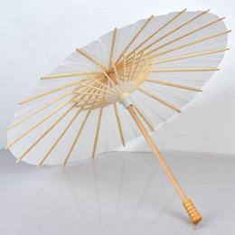 Ingrosso Ombrelloni da sposa Ombrelli di carta bianca Ombrello da miniera cinese 4 Diametro: 20,30,40,60 cm Ombrelli da sposa all'ingrosso
