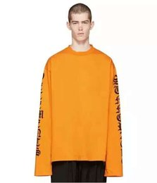 $enCountryForm.capitalKeyWord NZ - 2016SS TOP VETEMENTS oversized t shirt kpop kanye west men women long sleeve letter printing tee justin bieber 5 color S-XL