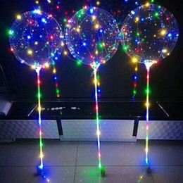 $enCountryForm.capitalKeyWord Australia - 18 Inch LED Light Up Bobo Balloons Luminous Glow Balloon with Colorful String Light for Birthday Party Wedding Battery Operated