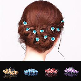 $enCountryForm.capitalKeyWord NZ - 20Pcs Lot Chic Women Wedding Bridal Crystal Rhinestone Rose Flower Hairpins Hair Clips Hair Accessories Jewelry High Quality