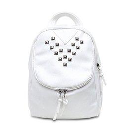 Leather Backpack Women Fashion Rivet Backpacks School Bags For Teenagers Girls  Travel Pack 2017 Rucksack 49dc417b0e08d