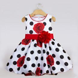 484b8891034c0 One year baby girl dresses online shopping - Cute Sleeveless Dot Dress One  Year Royal Blue