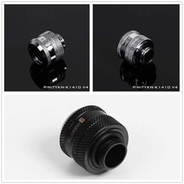 Cool Water Pipes Australia - Hard Tube Quick Twist Connector Hard Pipe Hand Screw Connector G1 4 Water Cooling Connector with 4 Seal Rings