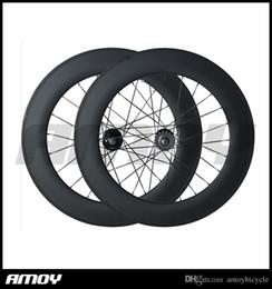 Fixed Gear Track Australia - 88C 700C carbon wheelset,88mm clincher tubular, track bicycle fixed gear street bike carbon wheel