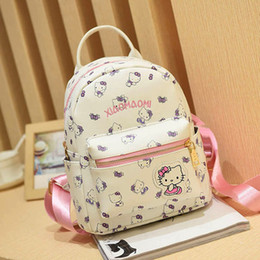 410eb1d0f Hello kitty bag leatHer online shopping - Cartton Backpack For Girls For  School Leather Backpack Hello