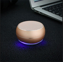 Player wheels online shopping - Mini Wireless Speaker Bluetooth Portable Colorful Metal Subwoofer Support TF Card With Multifunction Wheel Retail Box