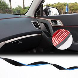 Discount interior chrome trim strips - 5meter car Interior strip sticker car interior decoration Accessories Chrome Moulding Trim Air Dashboard Door Edge Auto