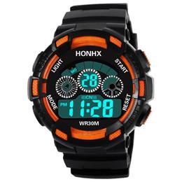 Men Digital Wrist Watches Australia - Men's Clock Sport Digital LED Waterproof Wrist Watch Luxury Men Analog Digital  Army Stylish Mens Electronic watch Clock