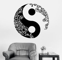 Mandala Wall Sticker Home Decal Buddha Yin Yang Floral Yoga Meditation Vinyl Decal Wall Art Mural Home Decor Decoration D 175  sc 1 st  DHgate.com : sticker wall art uk - www.pureclipart.com