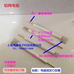 Platindrahtelektrode / PTFE-Mantel / kundenspezifische Platindrahtelektrode Kohlenstoffglasklammerabrechnung