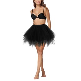 $enCountryForm.capitalKeyWord UK - Tutu Skirt Women 1950s Vintage Multilayer Pleated Girls Tutu Petticoat Ballet Bubble Tulle Skirt Layered Mini Underskirt Adult