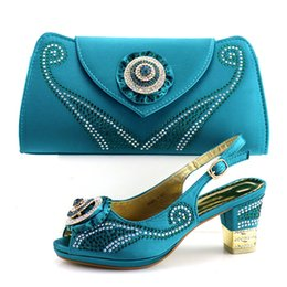 Green Summer Sandals Canada - Green New Elegant Women's Shoes And Bag Set Free Shipping Italian Shoes With Matching Bags For Party Wedding Pumps Summer Sandals A1-17205