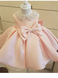 Baptism dresses for girls 4t online shopping - Toddler Girl Baptism Dress Pink Christmas Costumes Baby Girls Princess Dresses Year Birthday Gift Kids Party Wear Dresses For Girls