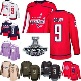 34c856f34ac 2018 Stanley Cup Champions 9 dmitry orlov washington capitals red USA Flag  Purple Fights Cancer Practice Camo Veterans Day hockey Jersey