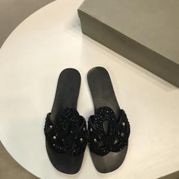 Discount huaraches original - Luxury Brand Sandals Original Quality Shoes Fashion Pop Slippers Causal Slide Stripe Design Huaraches Flip Flops Scuffs