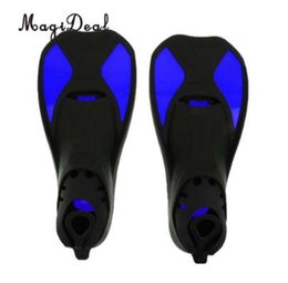 swim shorts kids 2019 - MagiDeal Universal Full Foot Short Fins Scuba Diving Swim Training Flippers Kid Adult Swimming Fins Snorkeling Water Fin