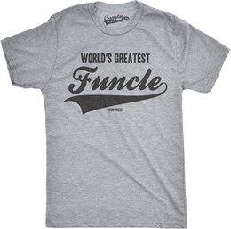c78fe55e5 Mens Worlds Greatest Funcle Funny Fun Uncle Family Relationship T Shirt  Loose Cotton T Shirts For Men Cool Tops Tee Plus Size