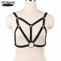 Chinese  Punk Goth Spike Tops Dress Womens Sexy Body Harness Cage bra Black Bondage Lingerie Fetish Erotic Burlesque dress Garter Belts manufacturers