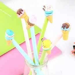 $enCountryForm.capitalKeyWord Australia - 3 pcs lot Cute sweet Ice cream dessert gel pens material escolar stationery canetas escolar school office supplies for children