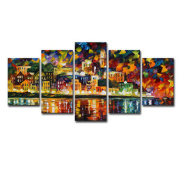$enCountryForm.capitalKeyWord Australia - Panel Modern Wall Art Modular Picture Painting On Canvas Night of the city Home Decor For Living Room Canvas Prints Artworks