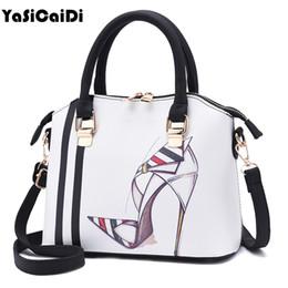 Multi Color Ladies Handbags Australia - YASICAIDI Design Women Characters Pattern Handbag Lady Fashion Style Messenger Bag Fresh Evening Handbag Brand Casual Color Tote