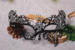$enCountryForm.capitalKeyWord Australia - Metal black Masquerade Mask for Carnival Halloween Set auger Venetian mask Half Face Ball Party Masks Festive Party Supplies cosplay mask 13