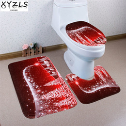 xyzls 3 pcs brand christmas tree anti slip toilet carpet bathroom mat toilet mats for three sets of bath mat home decor bathroom decor sets outlet