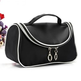 Black makeup storage online shopping - 9 pieces EIFFTER New Professional Women Makeup Case Bag Ladies Black Large Capacity Portable Cosmetic Storage Travel Bag
