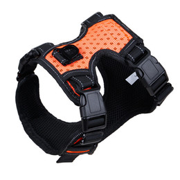 black dog pet supplies UK - New Cloth Dog Harnesses Comfortable Breathable Explosion-proof Punching Pet Harnesses for Medium and Big Dog Pet Supplies