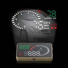 """Car Heads Up Display Australia - X6 3"""" Universal Auto Car HUD Head Up Display Overspeed Warning Windshield Project Alarm System Fuel Consumption OBD II Interface"""