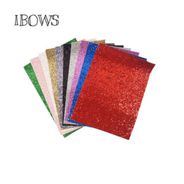 Chinese  10pieces pack 22CM*30CM Glitter Fabric Material For Christmas DIY Hair Bow Chunky Glitter Leather Party Wedding Decoration manufacturers