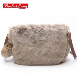 Ivory Handbags Canada - fashion women handbag small Plush shoulder bag girls crossbody bag female purse messenger