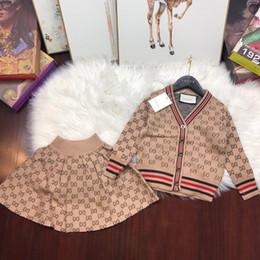 bee3fa6dacf07 deux pièces robes enfants costume 2018 automne et hiver enfants vêtement  mâle fille bébé pantalon pull twinset enfants ensemble de vêtements