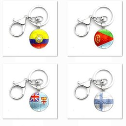 flags rings 2020 - Zinc Alloy Metal National Flag Key Ring Keyring For Decoration 2018 World Cup Soccer Keyclain For Wholesale cheap flags