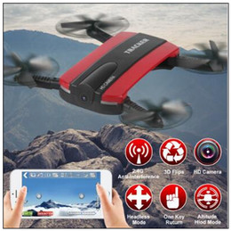 wifi camera drone NZ - New Phone Control JXD523 Tracker Foldable Mini RC Selfie Drone with Wifi FPV 720P HD Camera Altitude Hold Headless Mode CCA8708 10pcs