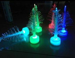 Novo brinquedo de Natal colorido árvore de Natal colorido criativo levou árvore de fibra flash em Promoção