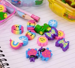 lipstick for girls 2019 - New Correction 20Pcs set Kawaii Cute Rubber Eraser Kids School Supplies Stationery Set for Home Party Kids GIft Party Fa