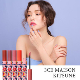 $enCountryForm.capitalKeyWord NZ - Hot 3CE Maisonkitsune Matte Lipstick with Pop Kitsune Long Lasting Waterproof 3CE Velvet Lip Tint Matte Nude Lip Sticks