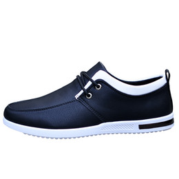 $enCountryForm.capitalKeyWord Canada - New high quality Leather Casual Men Shoes Fashion Men Flats Round Toe Comfortable Office Men Dress Shoes Business shoes