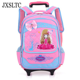 $enCountryForm.capitalKeyWord Canada - JXSLTC New Detachable Shoulder Bag Cartoon Children School Bags Trolley Backpack School Bag for Girl Boys G304 Backpack for Kids