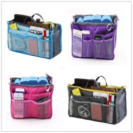 tote bag organizer inserts NZ - Custom Logo Universal Tidy Bag Cosmetic bag Organizer Pouch Tote Sundry Bag Home Storage Bags Travel Makeup Insert Handbag