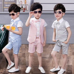 boys wedding dress summer NZ - 2018 new three-piece summer flower girl dress little boys dress   wedding suit piano performances Boys  into the store to choose more styles