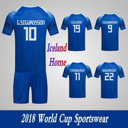 Discount army uniforms - Men's Clothing Tracksuits Iceland National Team Home Football Sport Suits 2018 World Cup Soccer Uniform Clothes Sho