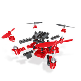 Building Block Rc NZ - 2018 New KY201 2.4G DIY Building Blocks RC Drone 3D Headless Educational Toy Mini Drone Quadcopter RC Helicopter For Kids Gift