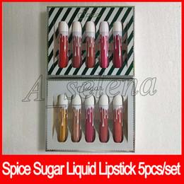 China Hot Spice Sugar Lipgloss Matte Liquid Lip Kollection 5pcs set Christmas collection lipgloss set high quality suppliers