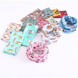 Wholesale 114styles Ins Baby scarf Neck Wraps Ring Scarves Children Neckerchief Fashion Winter Shark fox Boys Girls Kids Clothing Accessories